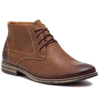 Šnurovacia obuv  9281 nubuk,koža(useň) lícová