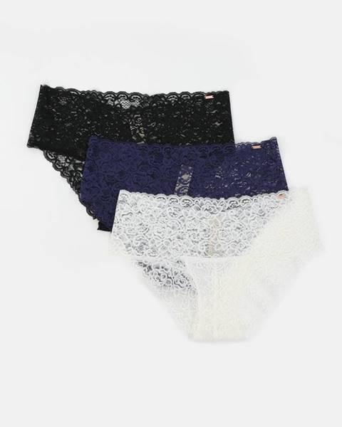 Čierne čipkované prádlo Dorina