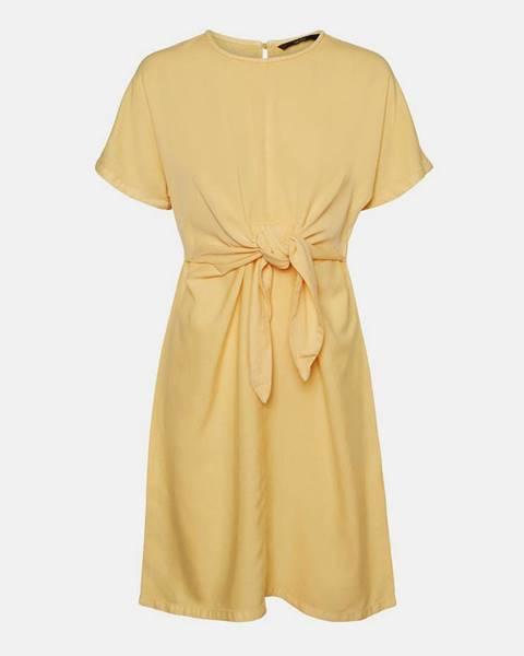 Žlté šaty Vero Moda