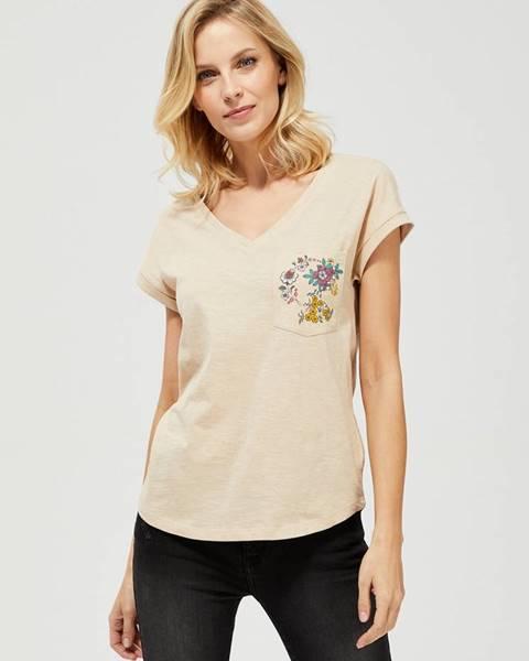 Béžové tričko moodo