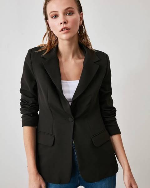 Čierne sako Trendyol