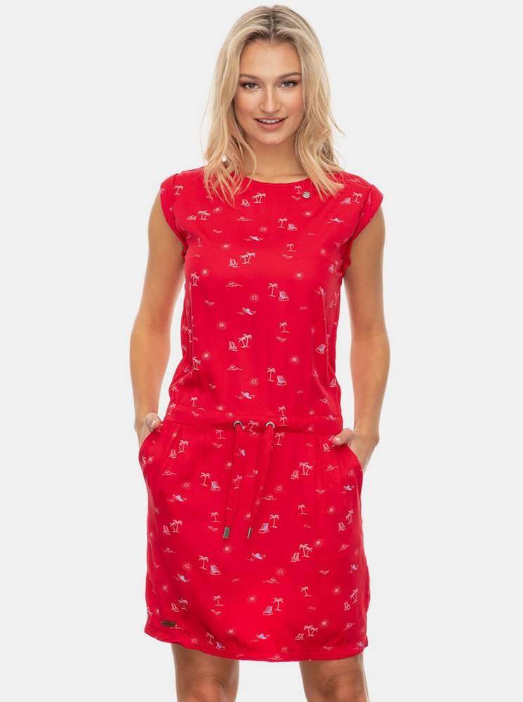Ragwear Červené vzorované šaty Ragwear Mascarpone
