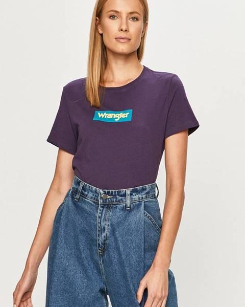 Fialové tričko Wrangler
