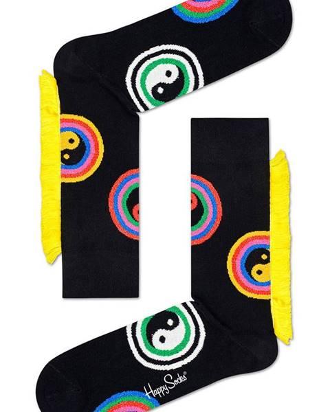Čierne ponožky Happy Socks