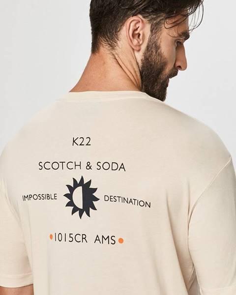 Béžové tričko Scotch & Soda