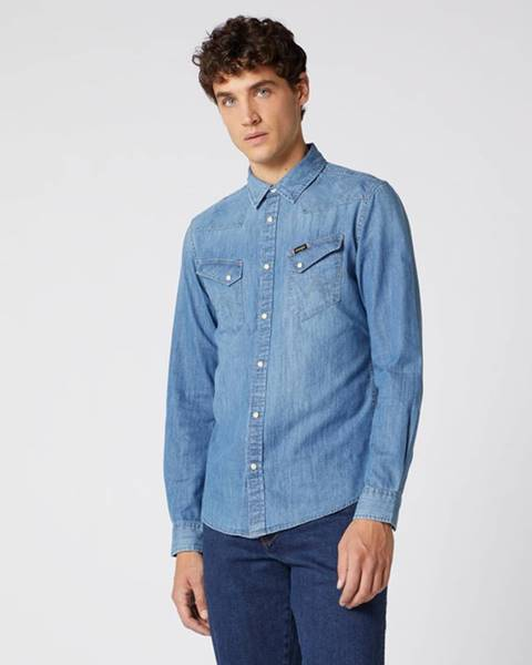 Modrá košeľa Wrangler