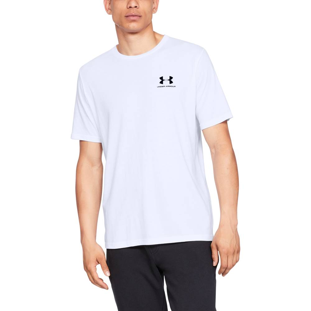 Under Armour Sportstyle Left Chest SS White