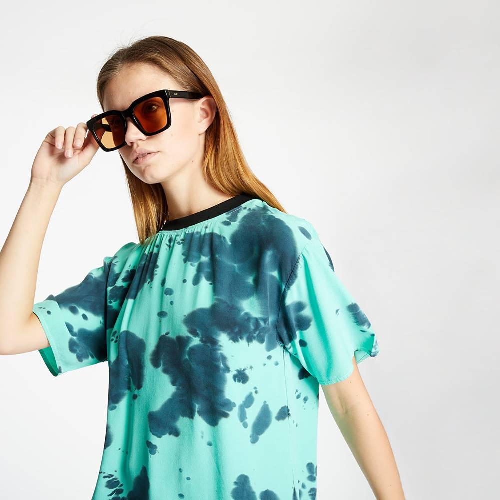 McQ Alexander ueen Fluid Tee Dress Green