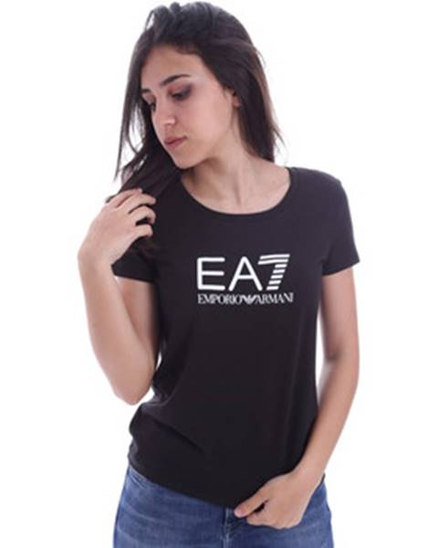 Čierne tričko Emporio Armani EA7