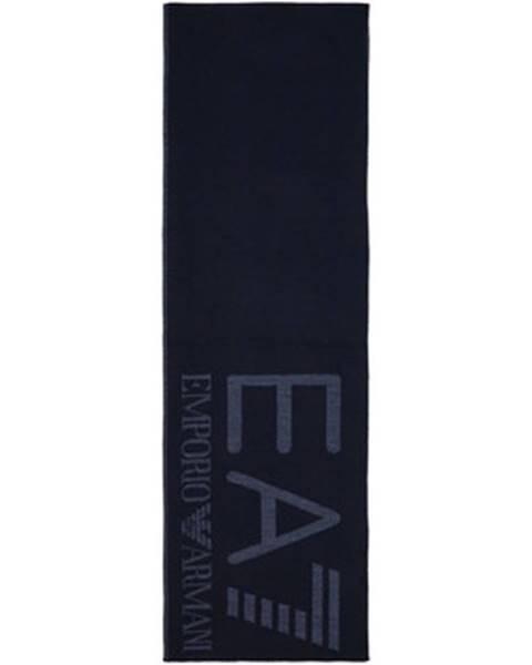 Modrá šatka Emporio Armani EA7