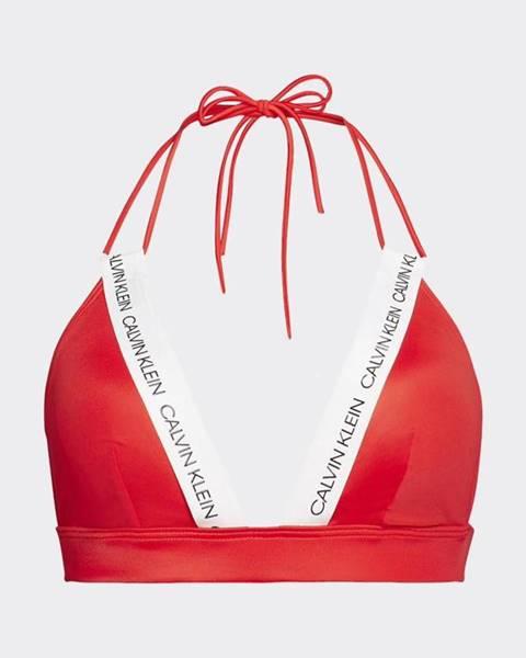 Červené plavky Calvin Klein