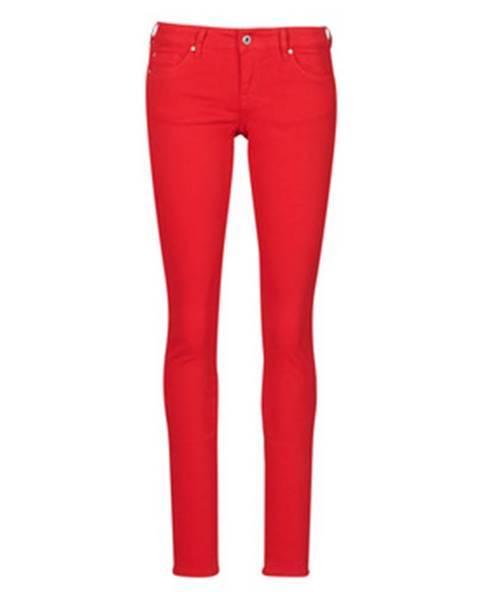 Červené nohavice Pepe jeans