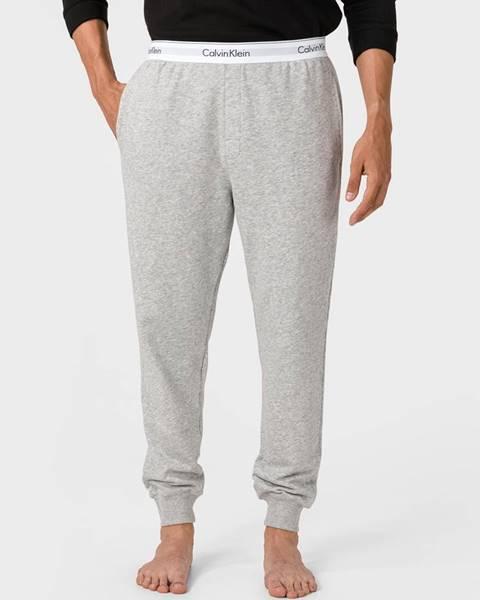 Sivé tepláky Calvin Klein