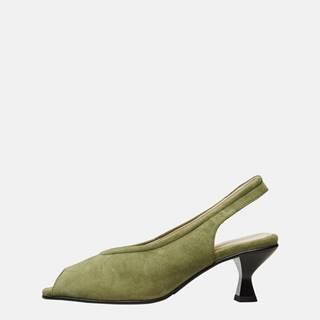 Zelené semišové sandálky Selected Femme Klara