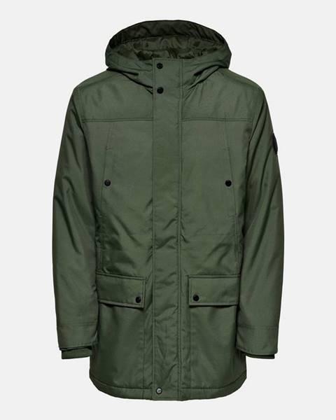Zelená zimná bunda ONLY & SONS