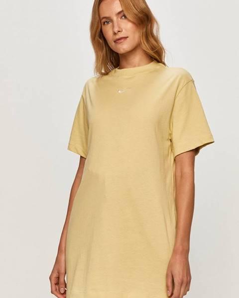 Béžové tričko Nike Sportswear