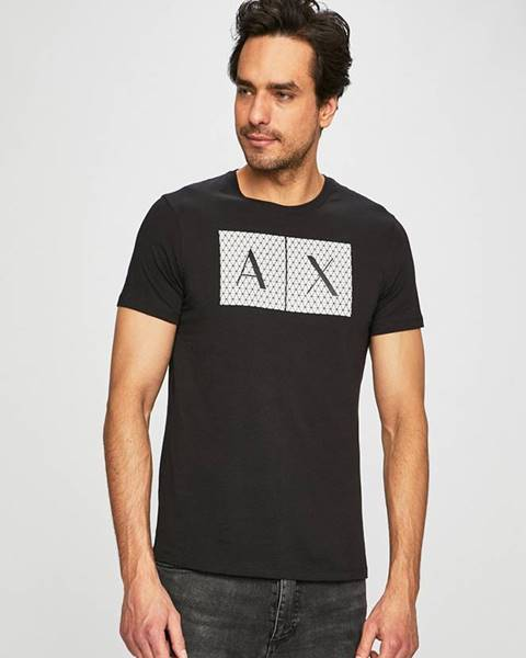 Čierne tričko Armani Exchange