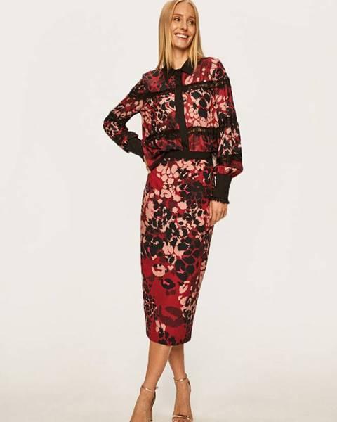 Červená sukňa Silvian Heach