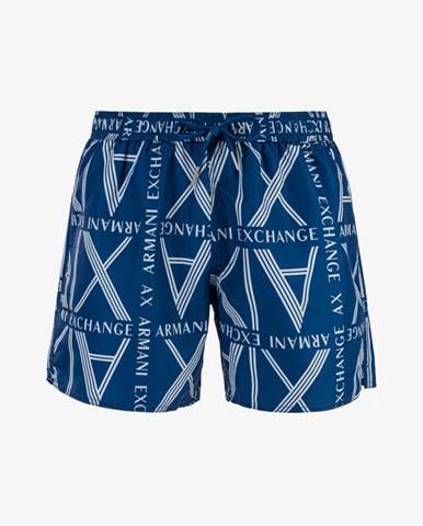 Modré plavky Armani Exchange