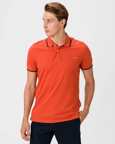Oranžové tričko Jack & Jones