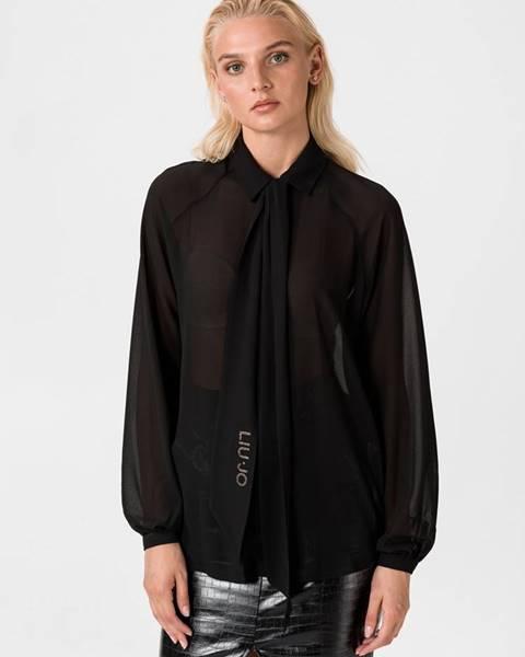 Čierna košeľa na gombíky Liu Jo