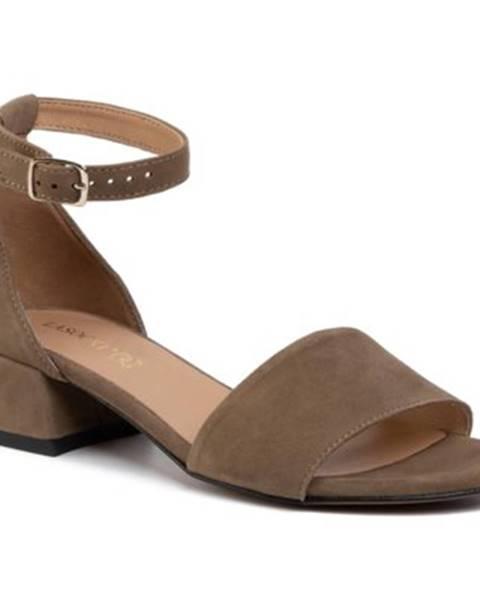 Khaki sandále Lasocki