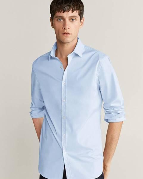 Modrá košeľa Mango Man