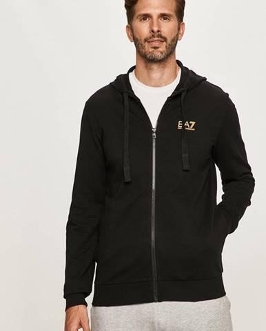 Čierna bunda s kapucňou EA7 Emporio Armani