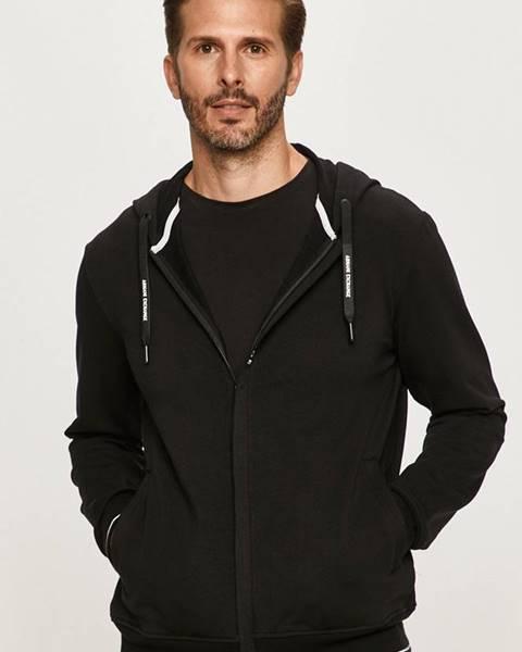 Čierna bunda s kapucňou Armani Exchange