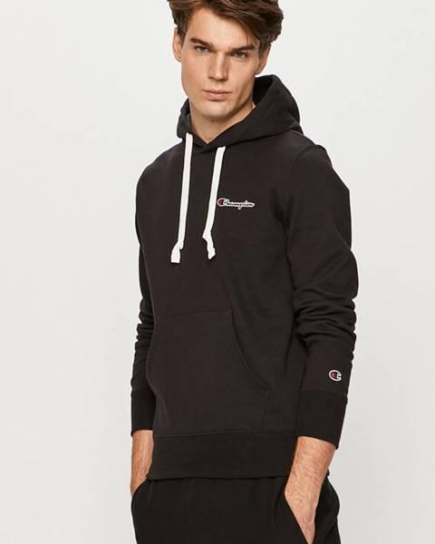 Čierna bunda s kapucňou Champion
