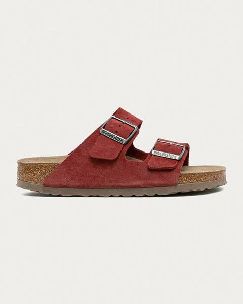 Červené sandále Birkenstock