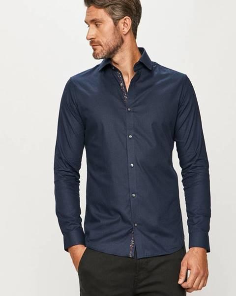 Tmavomodrá košeľa Premium by Jack&Jones