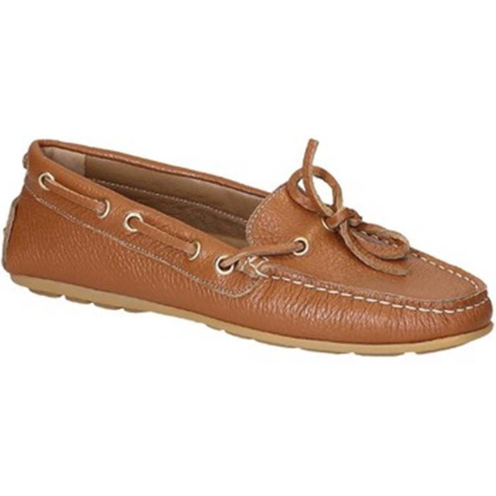 Leonardo Shoes Mokasíny  3040 VITELLO-GOMMA CUOIO