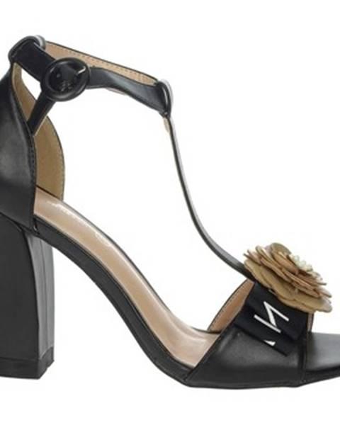 Čierne sandále Silvian Heach