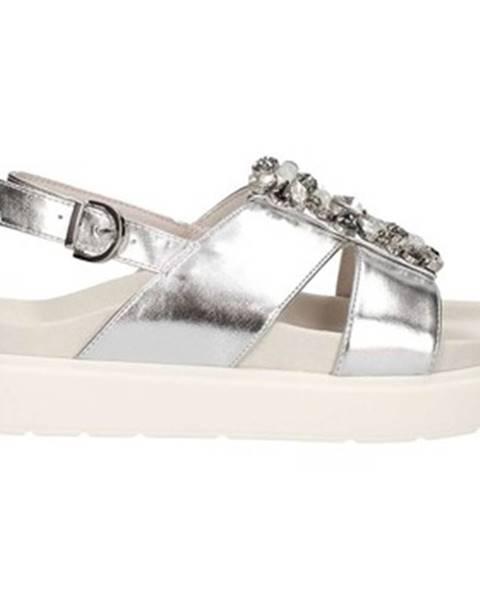 Strieborné sandále Luciano Barachini