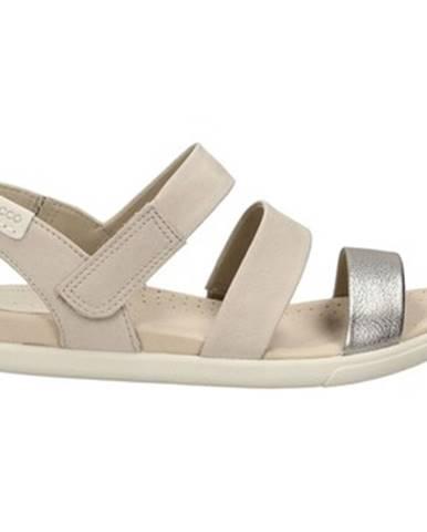 Strieborné sandále Ecco