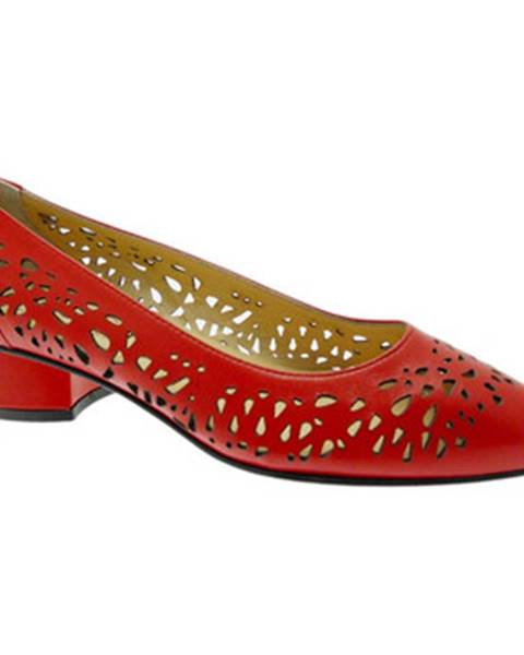 Červené lodičky Donna Soft