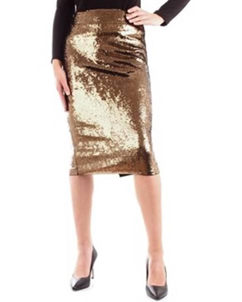 Zlatá sukňa MICHAEL Michael Kors