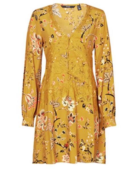 Žlté minišaty Vero Moda