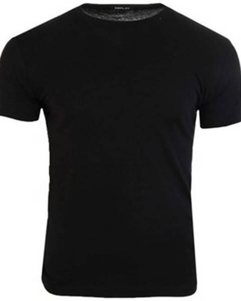 Čierne tričko Replay