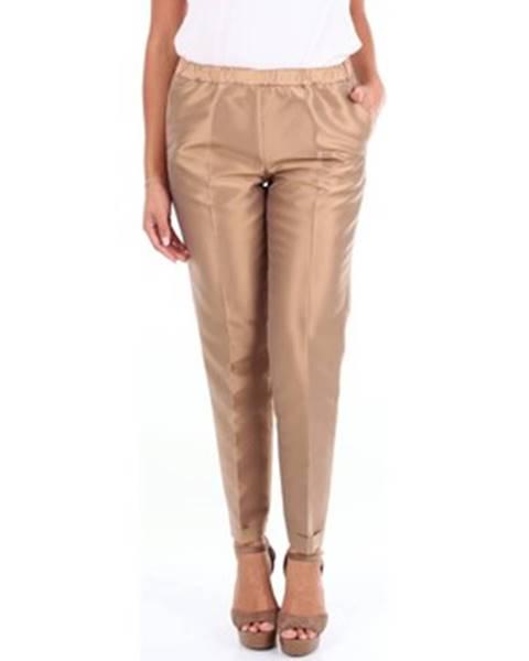 Béžové nohavice Alberto Biani