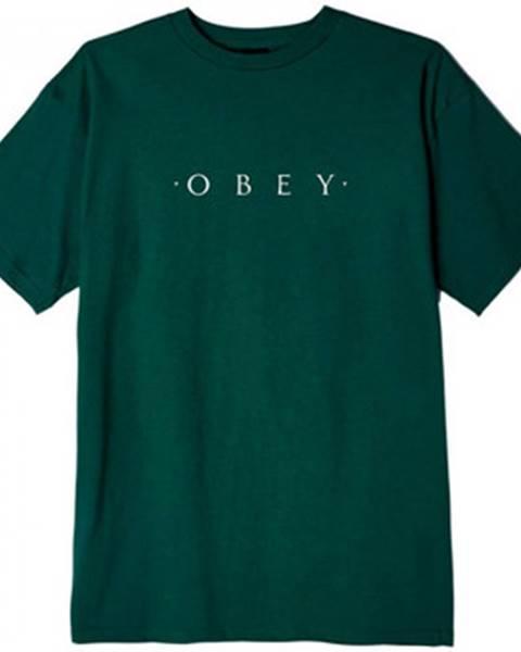Zelené tričko Obey