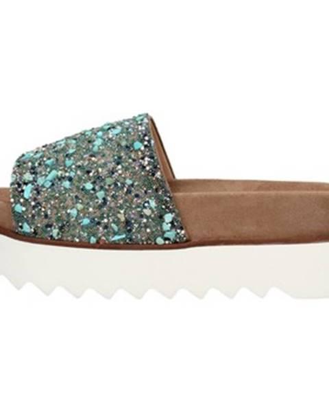 Zelené sandále Alma En Pena