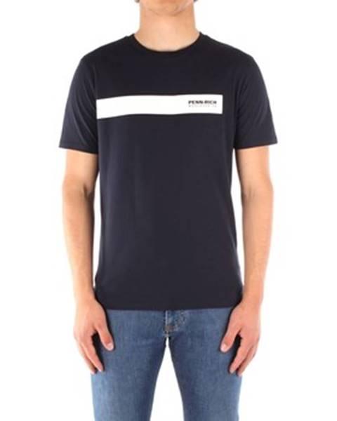 Modré tričko Penn Rich Woolrich
