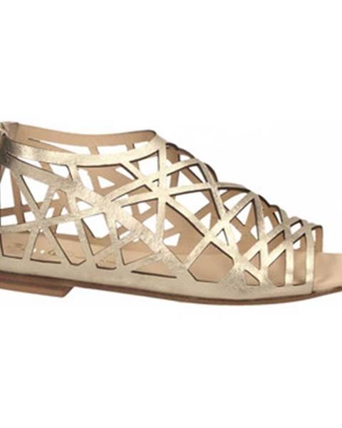 Zlaté sandále Now