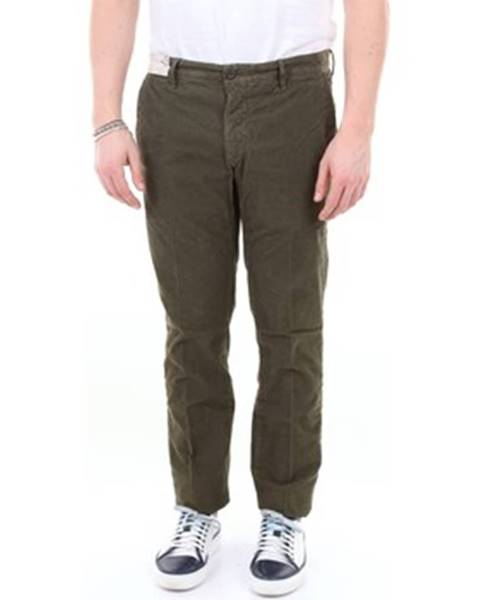 Zelené chinos nohavice Incotex