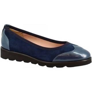 Balerínky/Babies Leonardo Shoes  6016S CAM/NAPPA BLU
