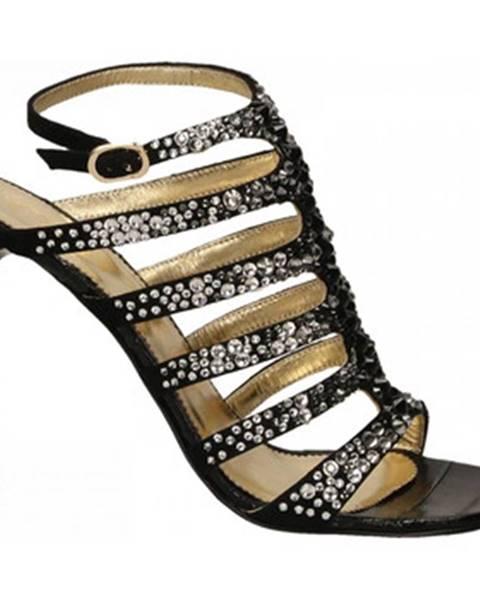 Čierne sandále Ororo