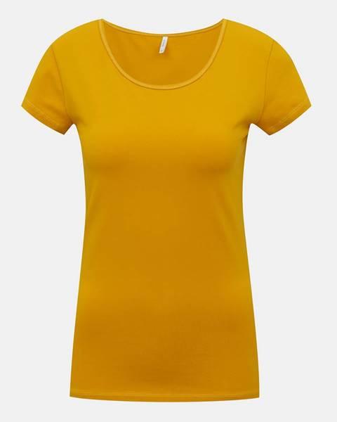 Horčicové tričko Only