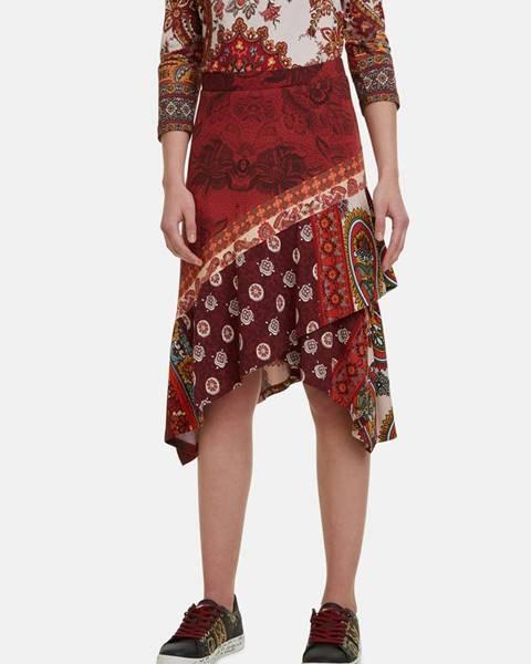 Červená sukňa Desigual